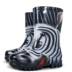 Dětské holinky Demar TWISTER PRINT zebra č.1
