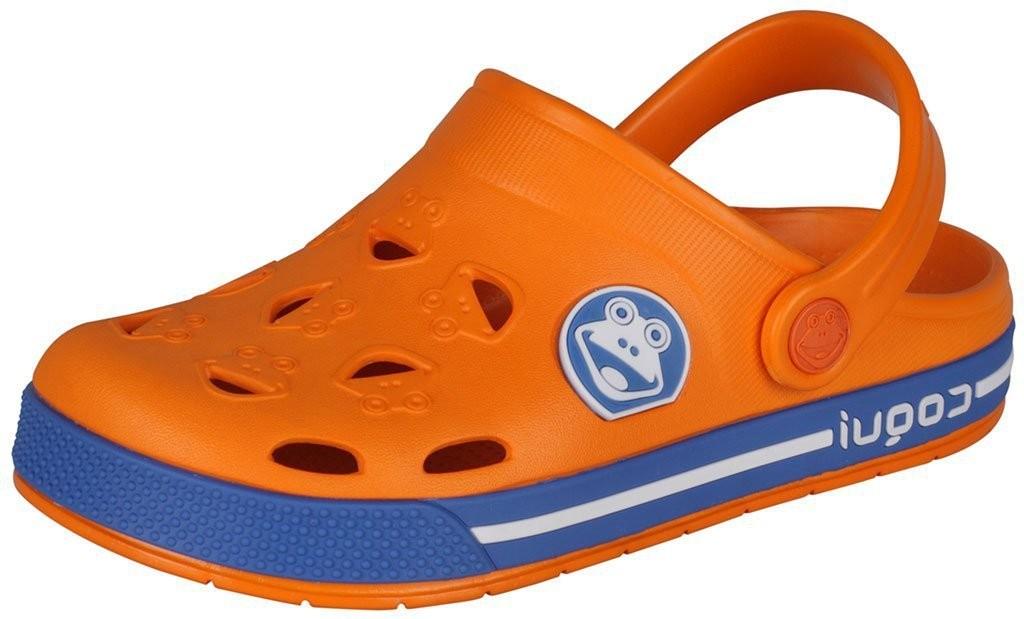 6151a3b3d1ef4 Dětské sandály Coqui Froggy 8801 oranžové/modré | Dětská obuv ...