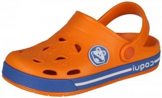 Dětské sandály Coqui Froggy 8801 oranžové/modré č.1