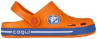 Dětské sandály Coqui Froggy 8801 oranžové/modré č.2