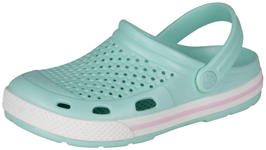 Dětské sandály Coqui Lindo 6413 sv. zelená/bílá