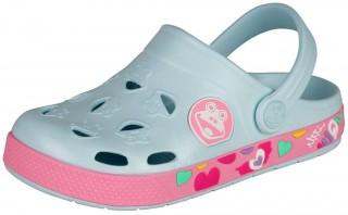 Dětské sandály Coqui Froggy 8802 Pastel blue/dk. pink č.1