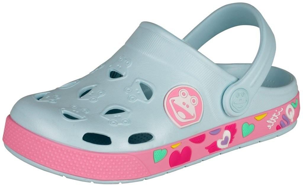 Dětské sandály Coqui Froggy 8802 Pastel blue/dk. pink