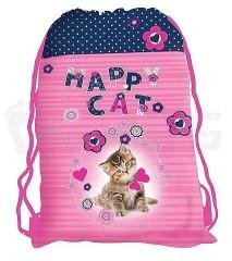 Sáček na cvičky 3-100 Happy cat č.1