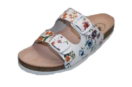 55fa211a78e4 Dětské zdravotní pantofle Santé D 21 Flora č.1