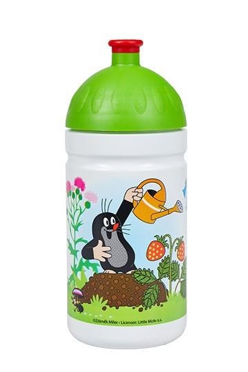 Zdravá lahev 0,5L - Krtek a jahody - zelená