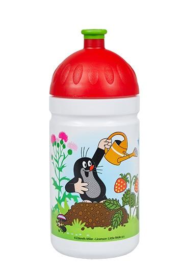 Zdravá lahev 0,5L - Krtek a jahody - červená