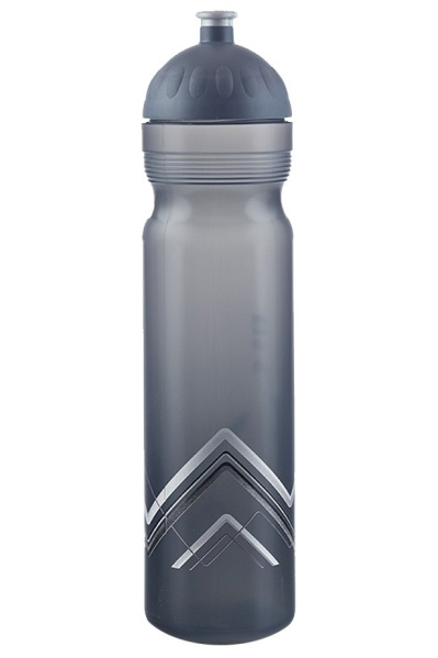 Zdravá lahev 1L Bike Hory - šedá