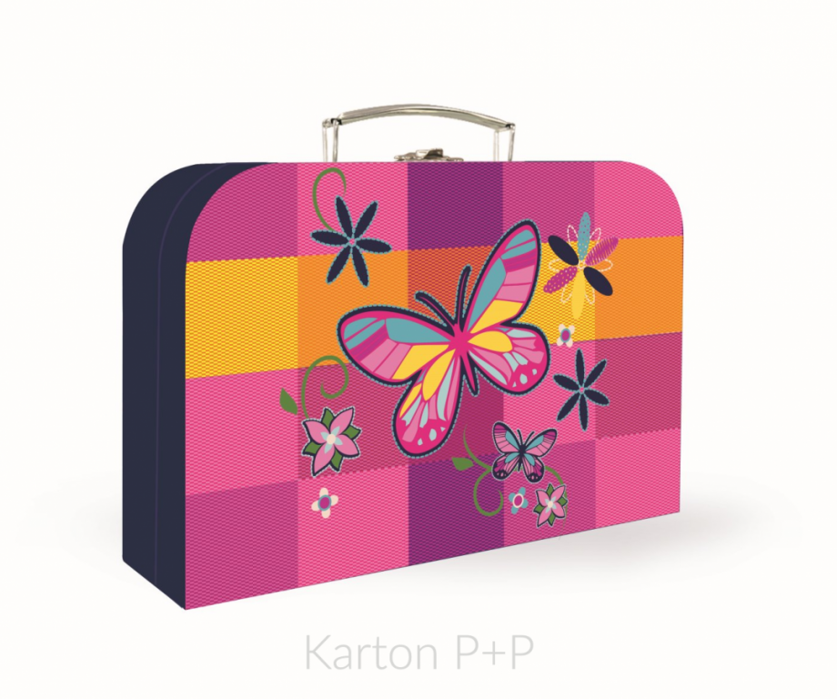 Kufřík lamino P+P Karton Motýl