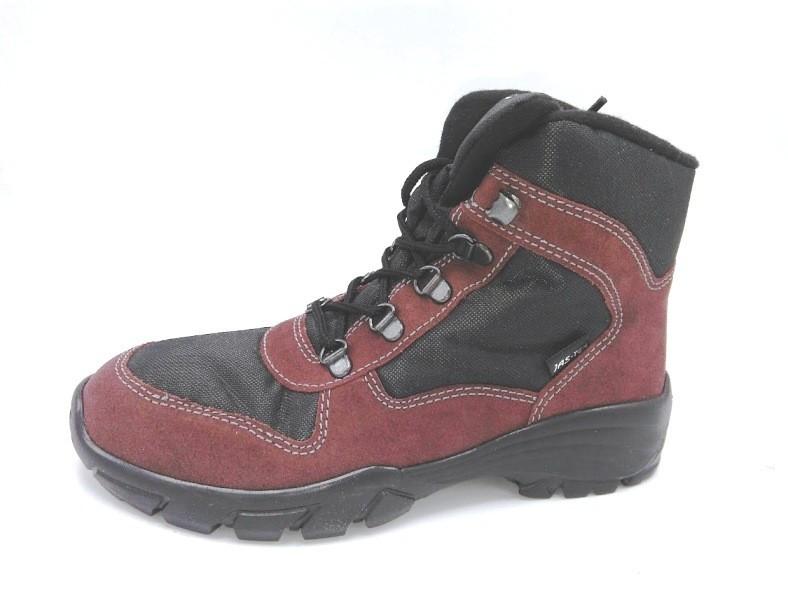 Dětské zimní boty JasTex 265601 bordó