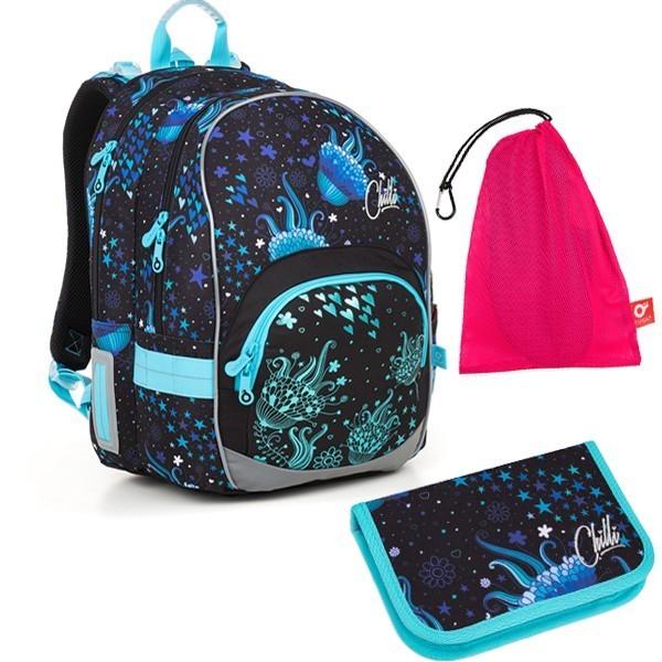 Školní batoh Topgal KIMI 18013 G set medium + ZDARMA box na svačinu + doprava