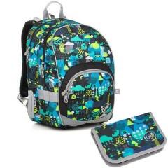Školní batoh Topgal KIMI 18011 B set small + ZDARMA box na svačinu + doprava č.1