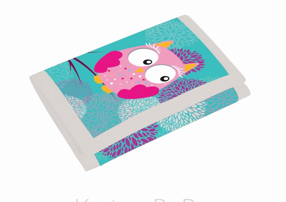 Dětská textilní peněženka Sova 3-58617