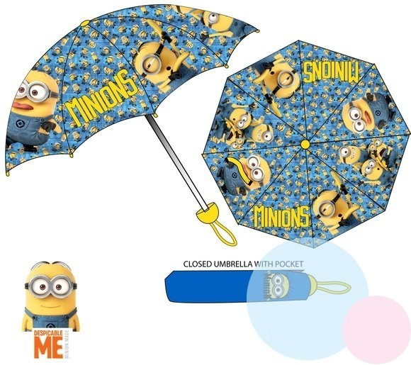 Dětský skládací deštník Mimoni 4495