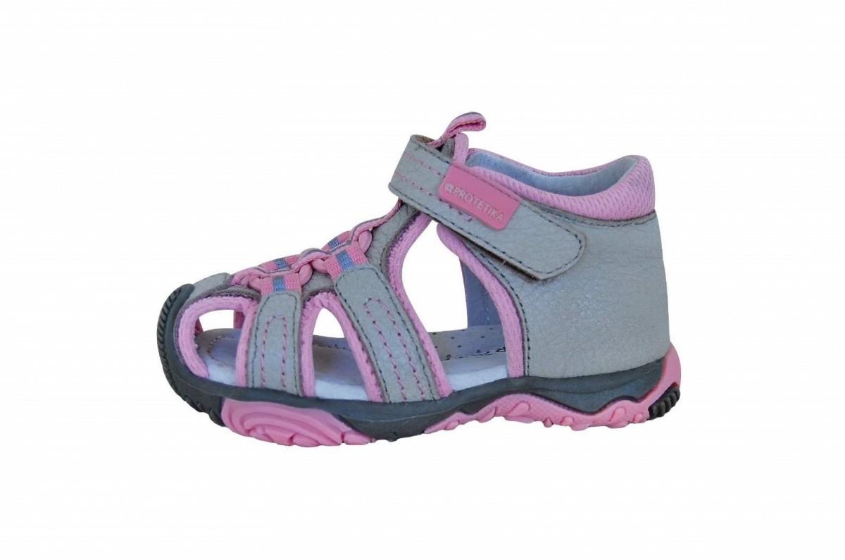 a1b726d04d07 Dětské sandály Protetika Sid beige č.1